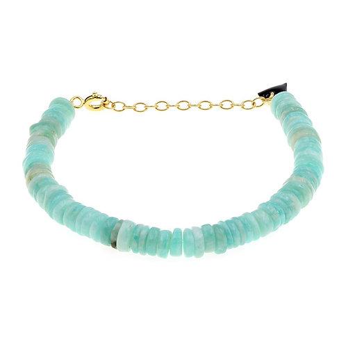 Bracelet Facettes Amazonite