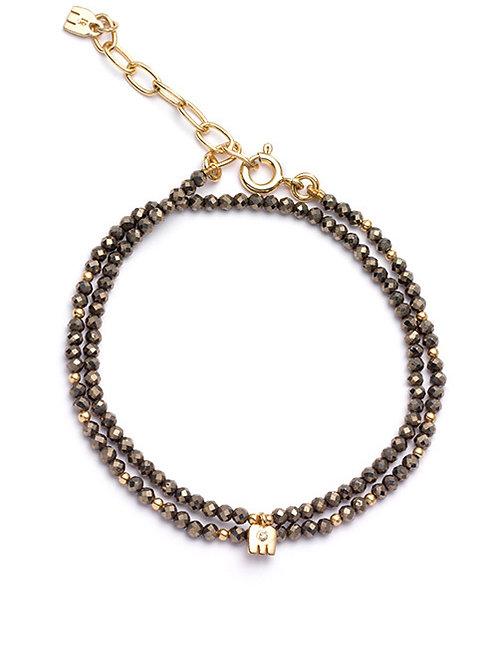 Bracelet Baby Thali pyrite