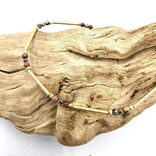 Bracelet ELLA - jaspe & pyrite - I 5 Octobre