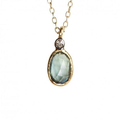 Collier ABY - saphir & diamant -  I 5 Octobre