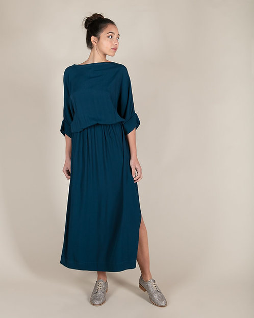 Robe Longue Buckley Bleu Gitane