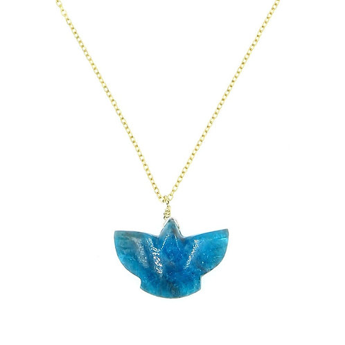 Collier Condor Apatite Bleu