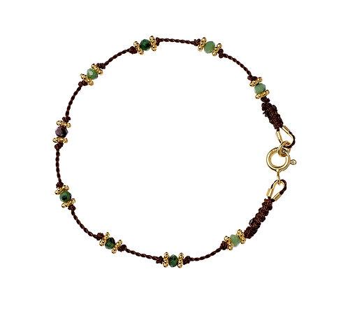 Bracelet Lotus Marron Or