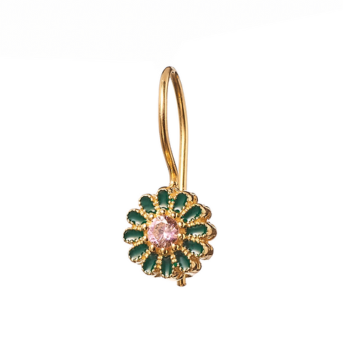 Boucles d'oreilles SAÏ - vert/rose I TITYARAVY
