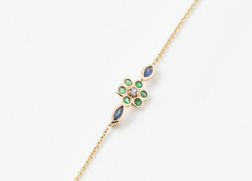 Bracelet miniflower vert