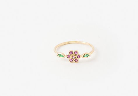 Bague miniflower rouge
