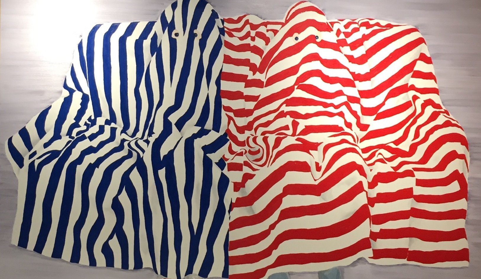 Blue and Red Ghosts