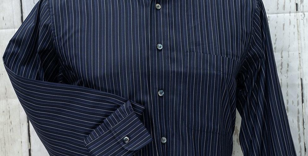 Classic Men's Long-Sleeve Dress Shirt, Poplin Cotton (Only Piece)