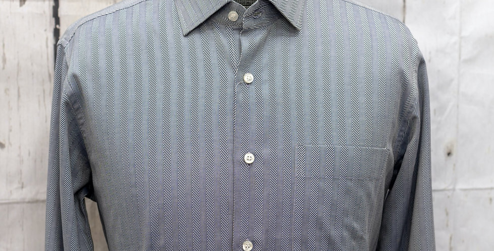 Spread-collar Herringbone Classic Shirt (One Piece)