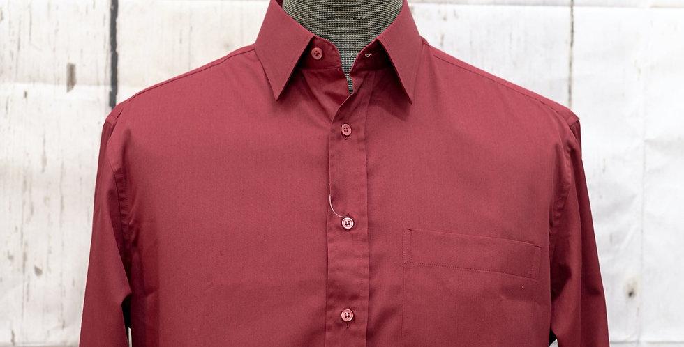 Classic Long-Sleeve Plain Shirt, Egyptian Cotton (One Piece)