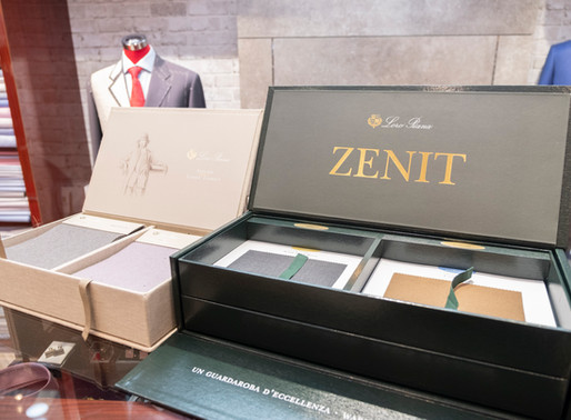 A private showcase of Loro Piana's Zenit collection and craft in suit making