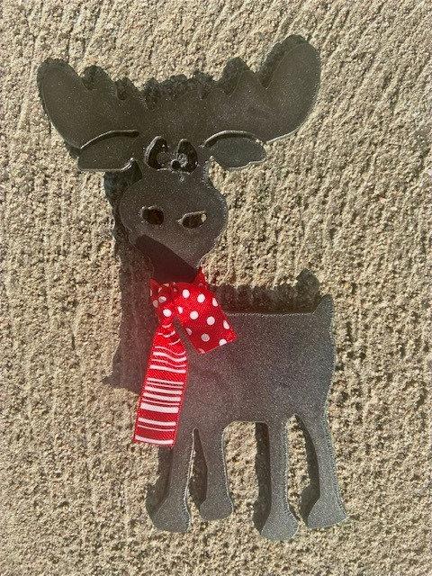 Startled Moose Ornament