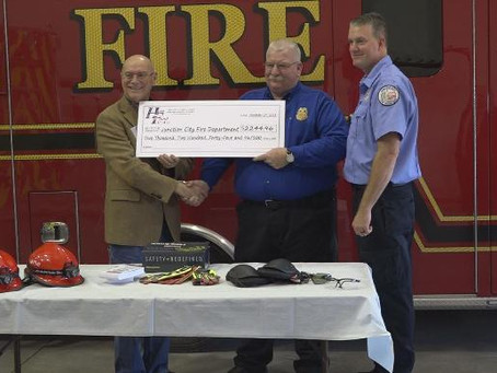 JCFD Receives Grant
