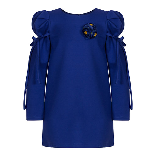 Royal Blue Tunic with Flower