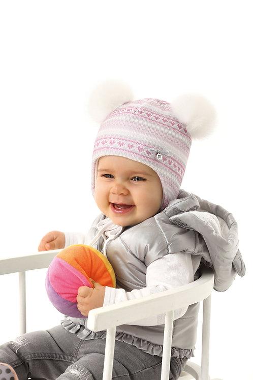 Pink Pattern Baby Girls Hat