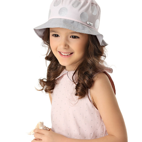 Polka Dot Summer Girls Hat