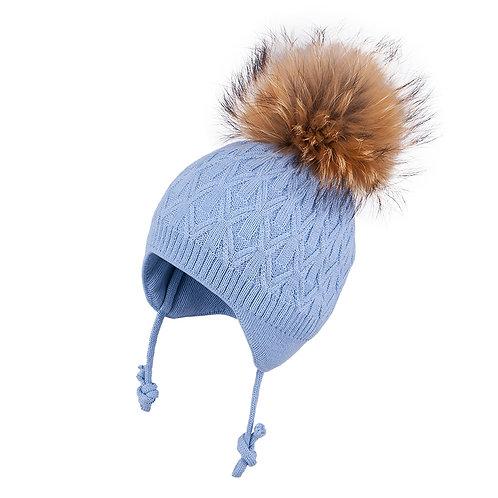 Solid Blue Boys Knit Hat