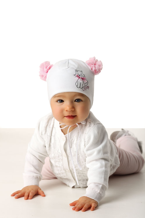 Sweet Kitty Baby Girls Hat