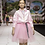 Thumbnail: Pink Tulle Puffy Skirt with Printed belt