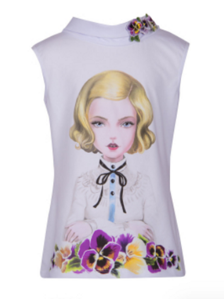 Blondie in Flowers Fashion Top
