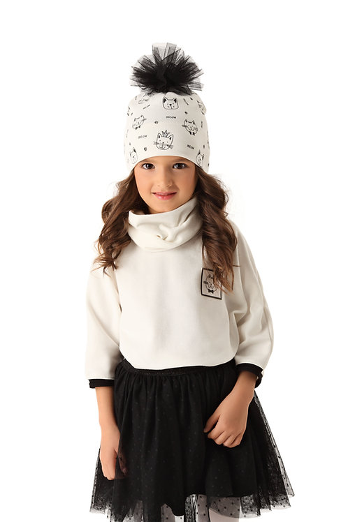 Ivory Kitty Girls Hat