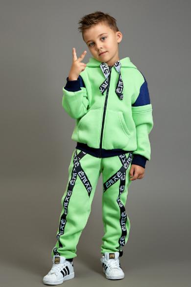 Lime/Blue Sweat Suit