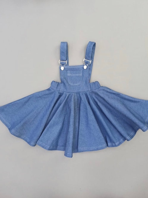Denim Overall Girls Dress