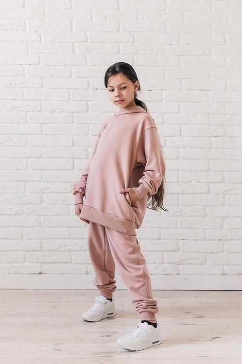 Oversized Girls Sweatsuit - Blush