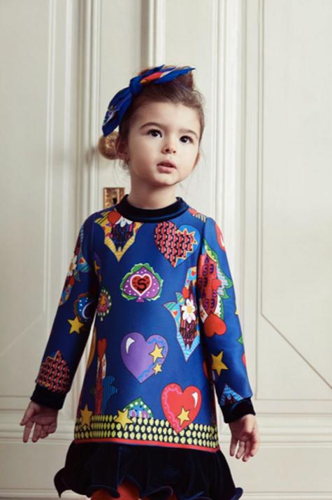 Fun Hearts Infant/Toddler Girls Dress