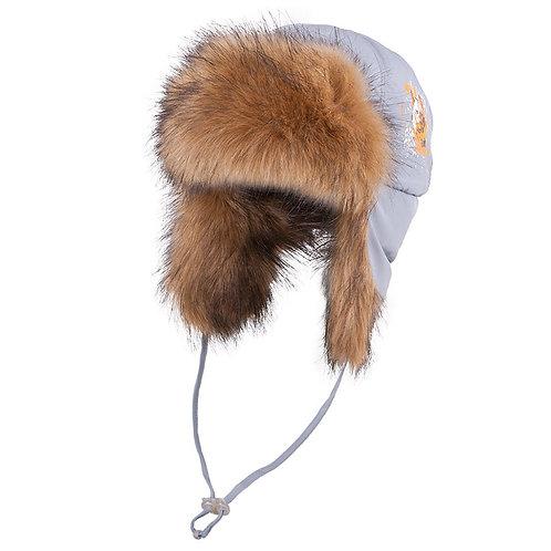 Grey Hunting Ear Flap Hat