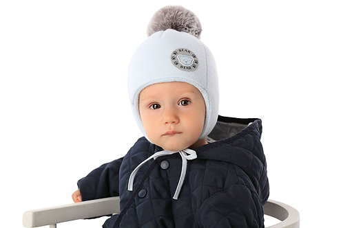 Lt. Blue Bear Winter Hat