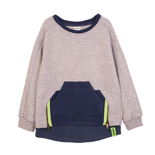 Grey/Navy Crewneck Sweatshirt