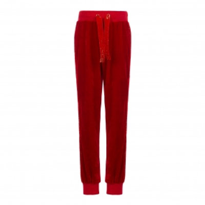 Red Velour Sweat Pants