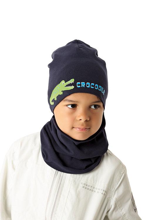 Navy Crocodile Boys Hat