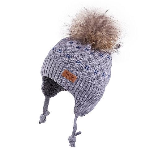 Grey Boys Knit Hat