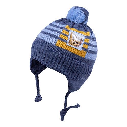 Dk. Blue w/Bear Boys Knit Hat