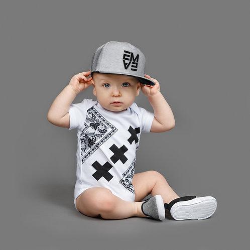White Hip Hop Bodysuit