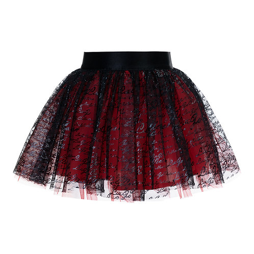 Tulle Black/Red Party Skirt