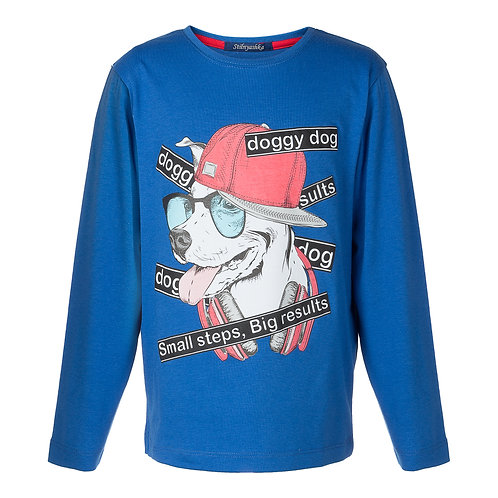 Blue Doggy Dogg LS Top