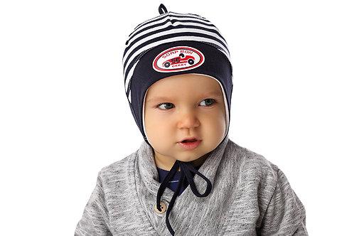 Sporty Stripe Baby Boy Hat