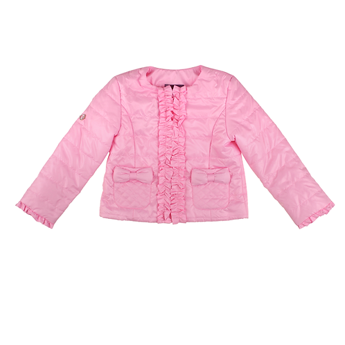 Pink Spring Jacket with Ruffles and Bows