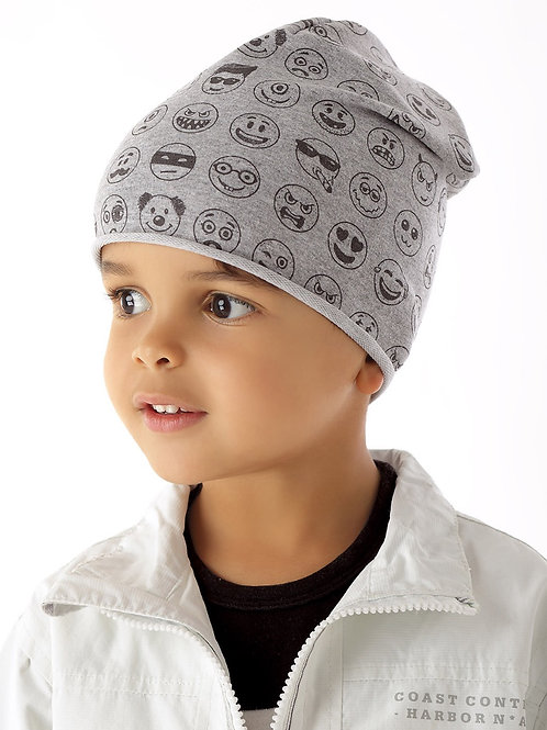 Grey Emojis Boys Hat