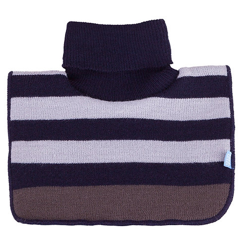 Stripe Navy/White Neck Cover