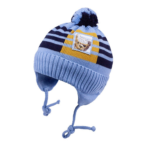 Lt. Blue w/Bear Boys Knit Hat