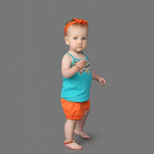 Turquoise/Orange Summer Set