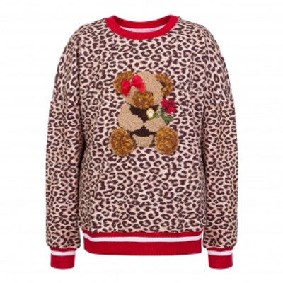 Leopard with Teddy Sweatshirt