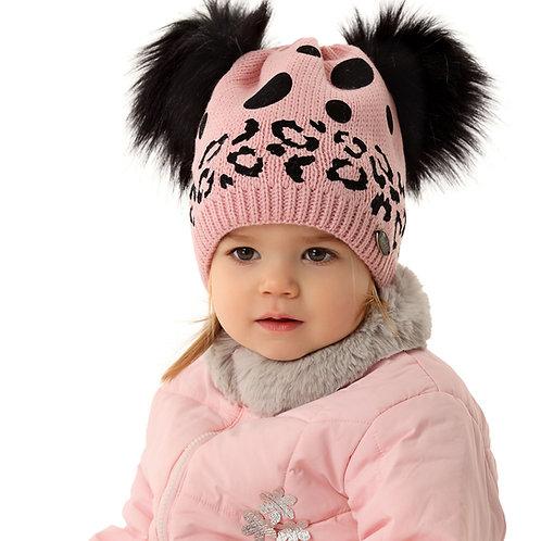 Pink Leopard & Polka Dot Winter Hat