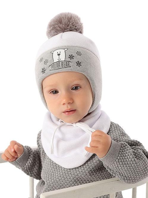 White/Grey Polar Bear Winter Hat