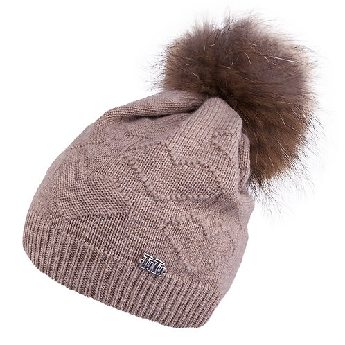 Mocha Teen to Adult Knit Hat