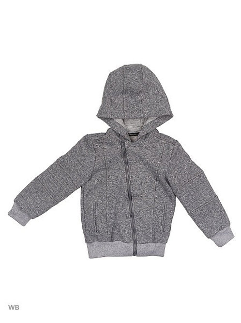Grey Hooded Moto Sweatshirt